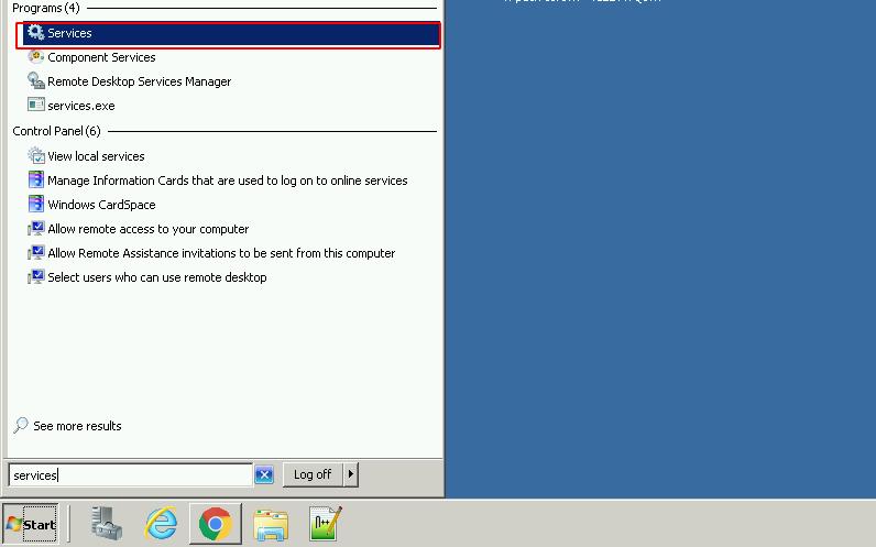 Tìm services trên Windows
