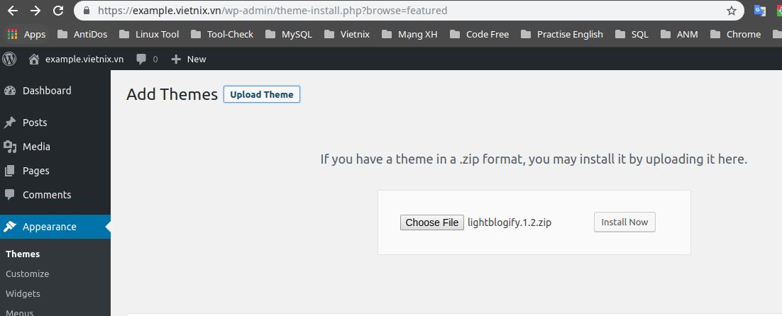 upload_max_filesize trong tập tin php.ini