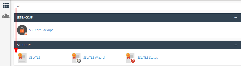 cài đặt SSL trên cPanel