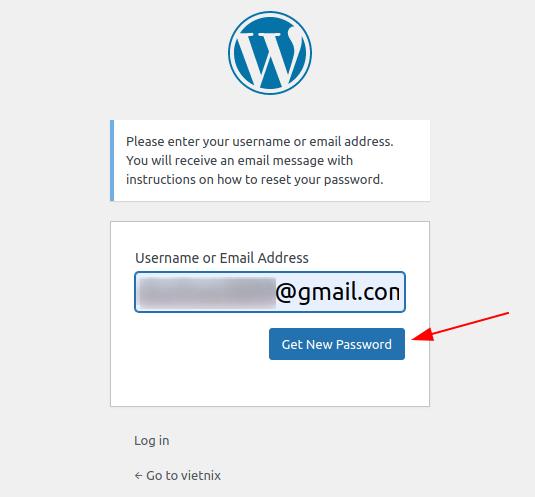 lấy lại mật khẩu Admin trong WordPress