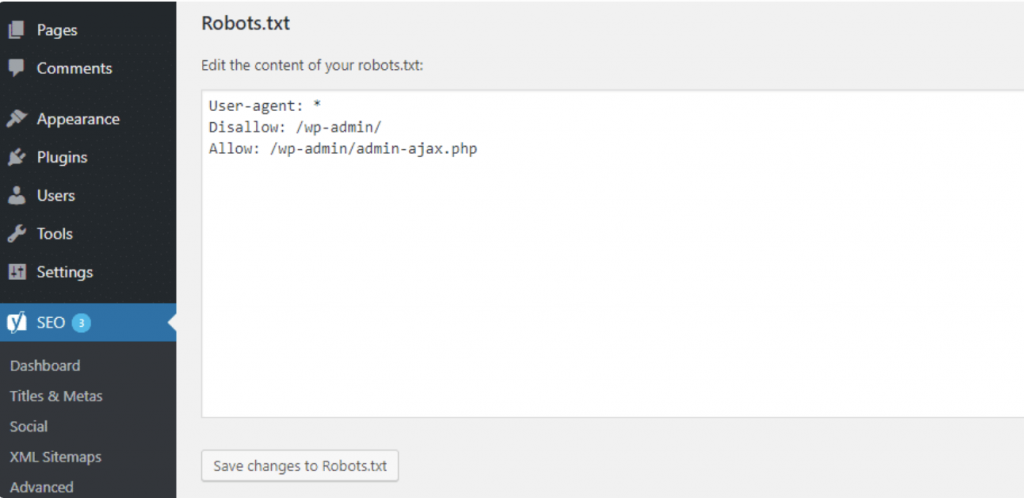 robots.txt cho wordpress