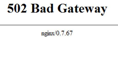 Biểu hiện của lỗi 502 Bad Gateway