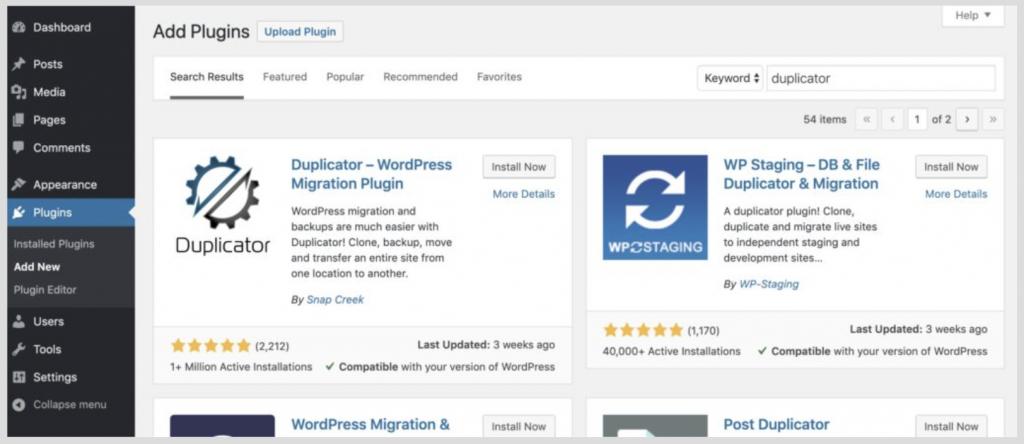 clone-WordPress-bang-duplicator