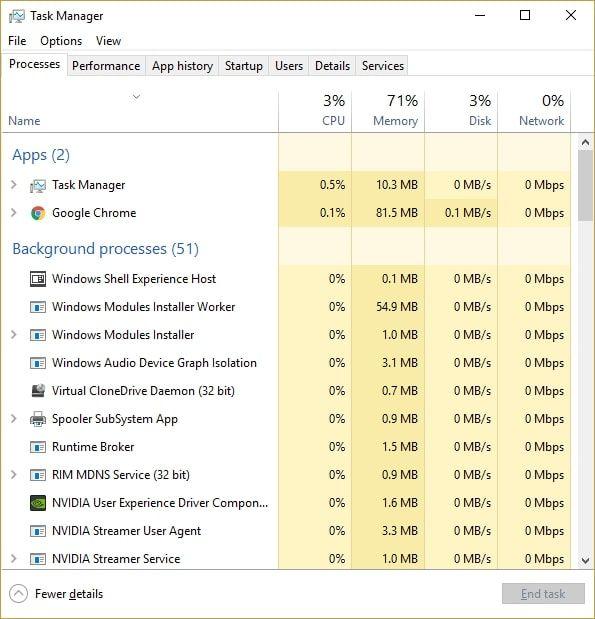 Restart lại Windows Media Player trong Task Manager