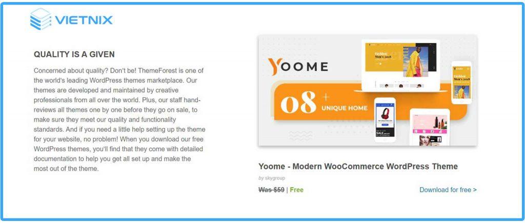 Theme wordpress miễn phí - Themeforest