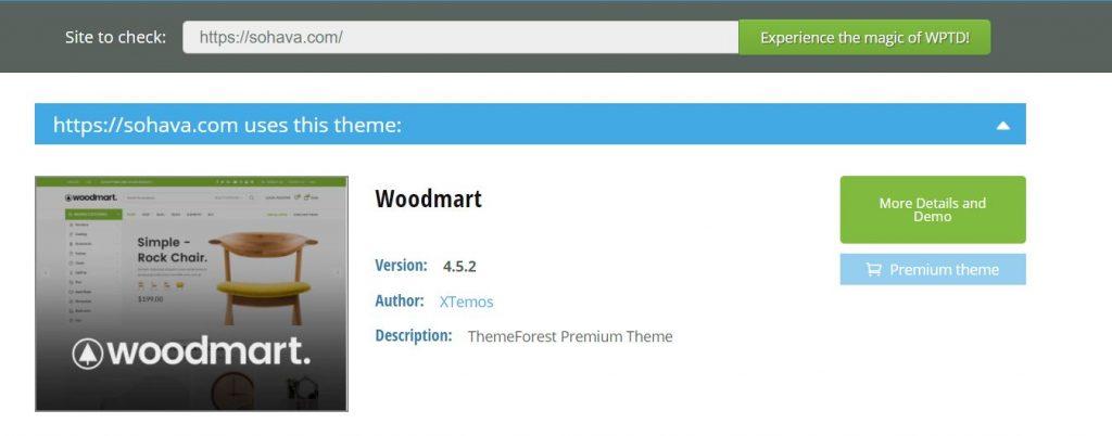 Check theme WordPress với WpThemeDetector