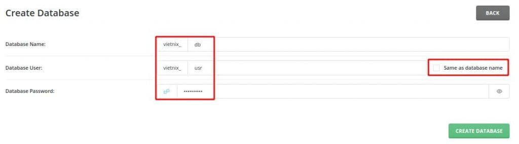 Tạo database trong phpmyadmin
