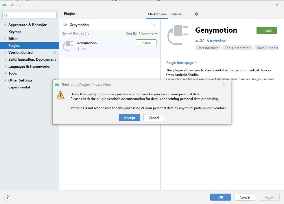 Cài đặt Genomytion cho Android Studio 1