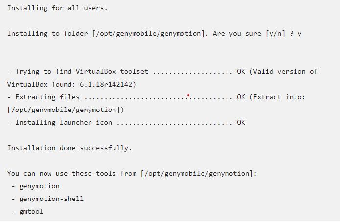 Cài đặt Genymotion Ubuntu