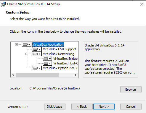 Cài đặt VirtualBox