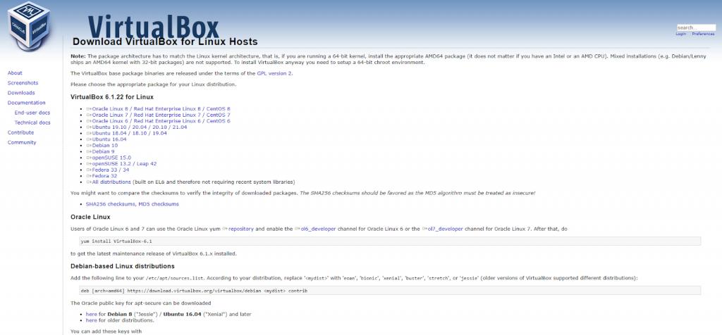 Cài lại VirtualBox