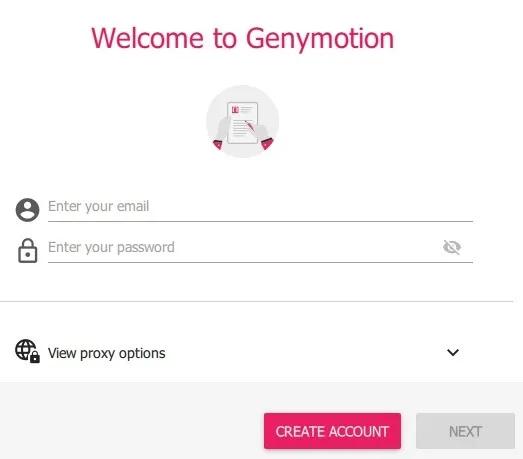 Đăng nhập Genymotion bằng tài khoản đã tạo - Hướng dẫn cài đặt Genymotion