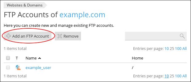 Tạo tài khoản FTP trên Plesk