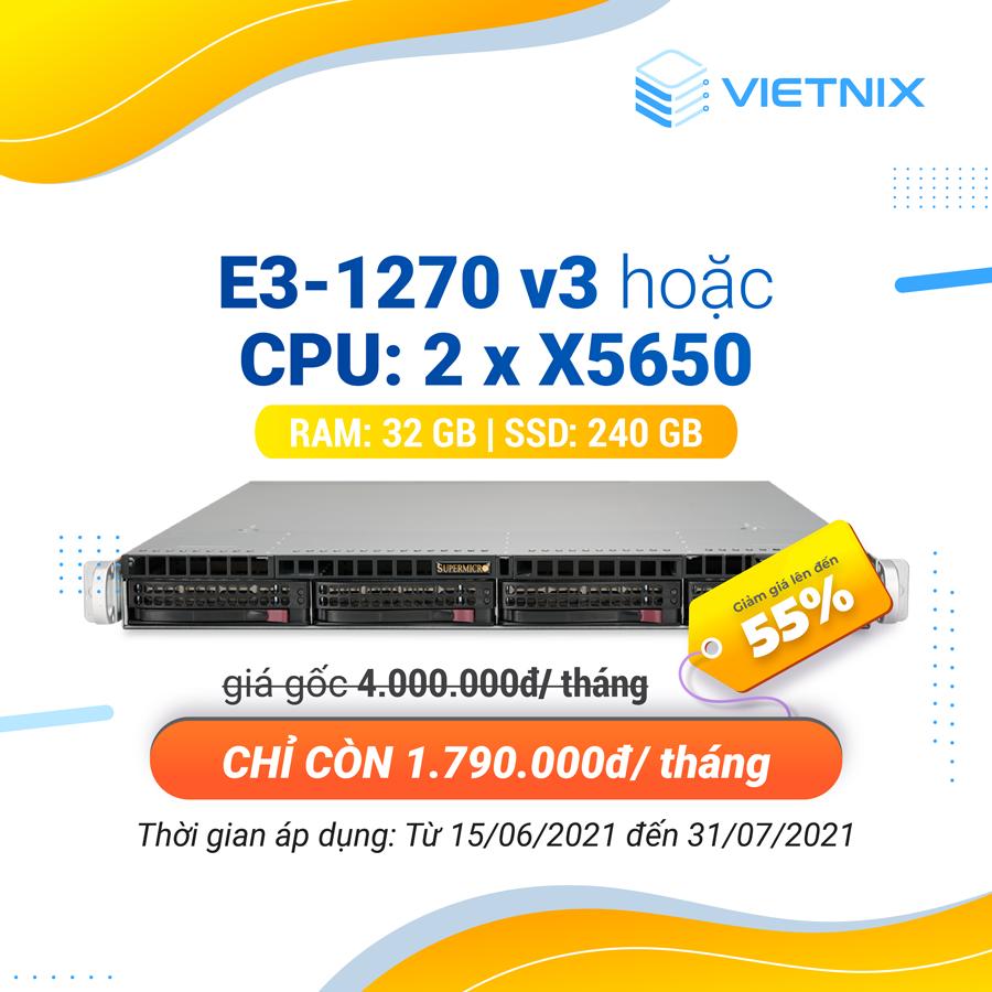 Khuyến mãi server 1270 v3 và x5650