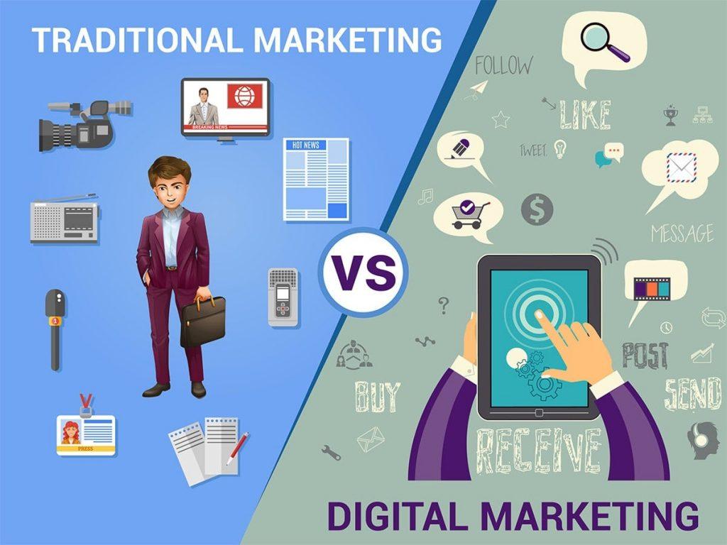 Sự khác biệt giữa Digital marketing và Marketing truyền thống