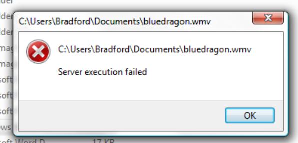 lỗi server execution failed
