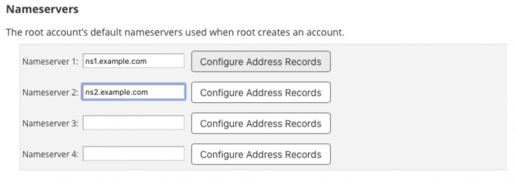 Cấu hình DNS Nameservers với cPanel