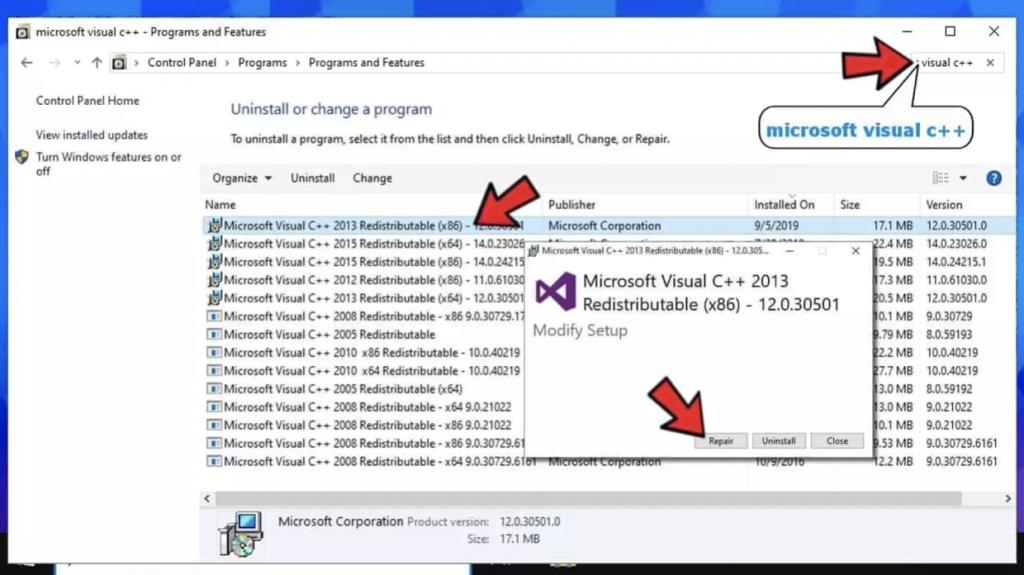 Microsoft Visual C++ Redistributables