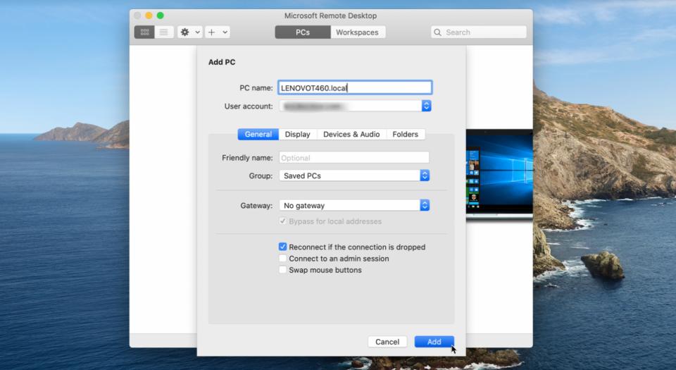 đặt tên cho PC trong máy MAC