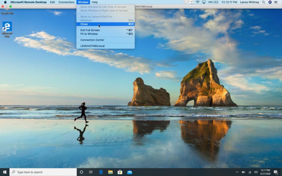 màn hình remote desktop mac