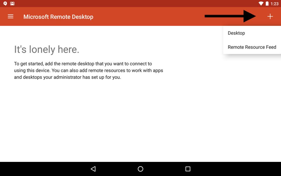 kết nối với PC từ Android