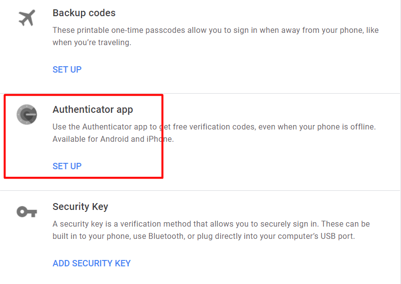 Cài đặt Authenticator app