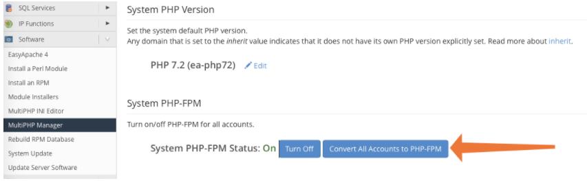 system PHP Version
