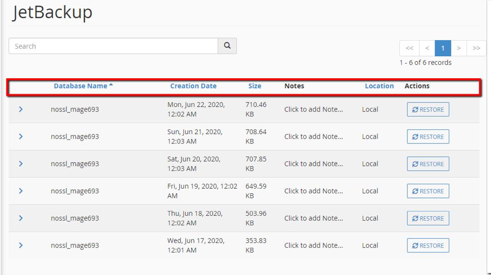 khôi phục Database Website
