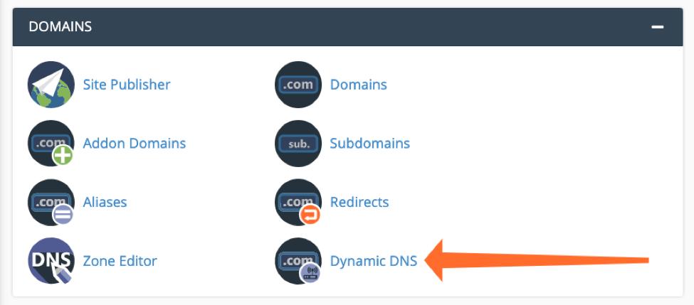 Hướng dẫn lưu trữ domain DNS động với cPanel