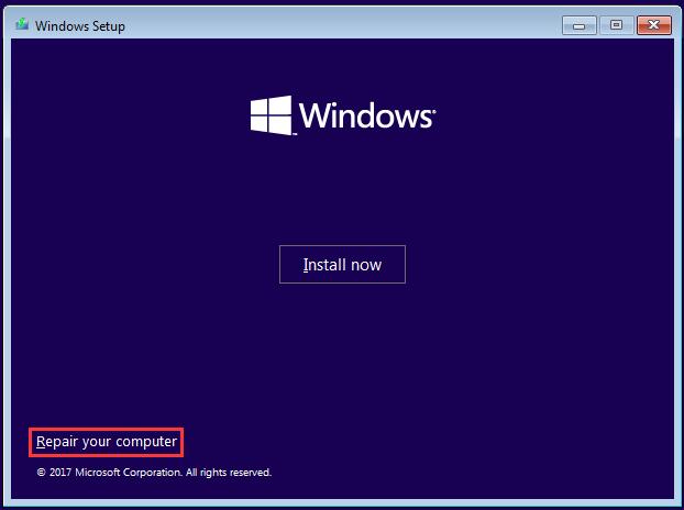 sửa chữa khởi động Windows
