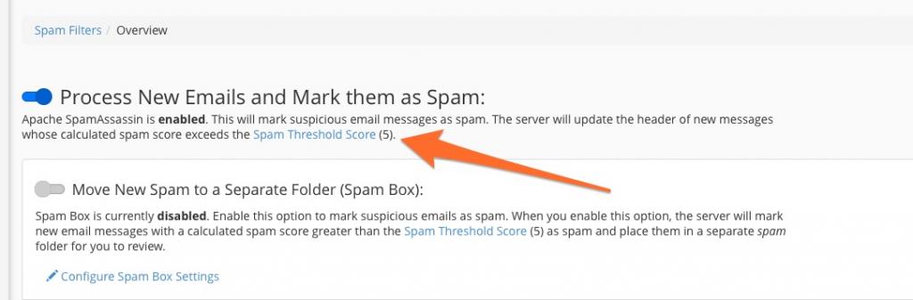 Cấu hình SpamAssassin Threshold Score