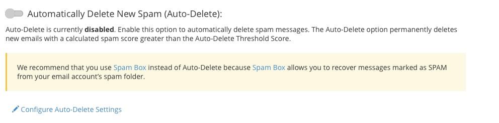 Cấu hình SpamAssassin Auto Delete