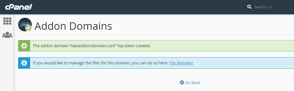 sử dụng Addon Domains