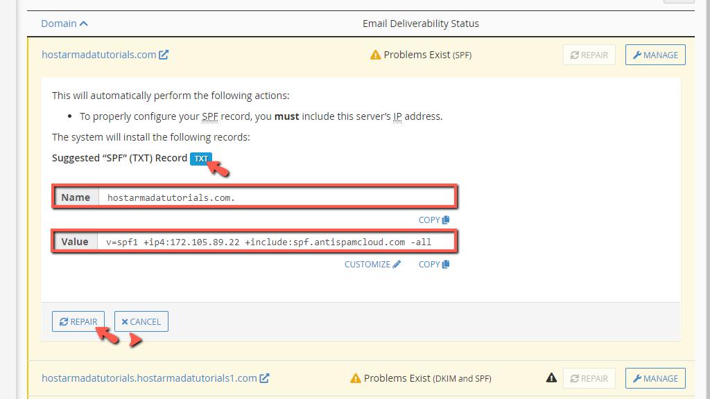 repair DNS records 2