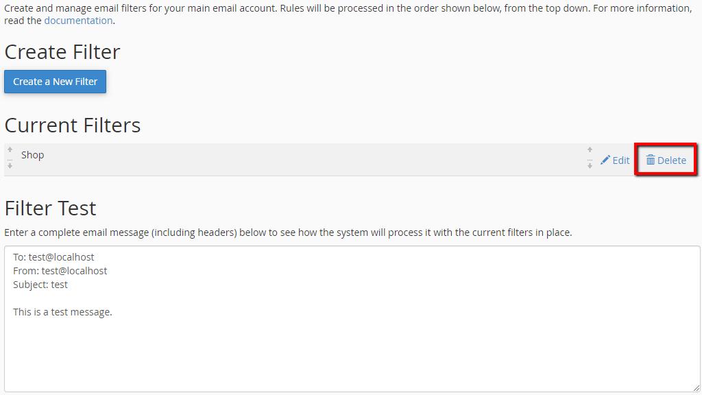 sử dụng tính năng Global Email Filters