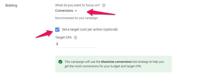Tối ưu hóa đặt giá thầu Google Ads
