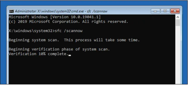 sử dụng lệnh command prompt