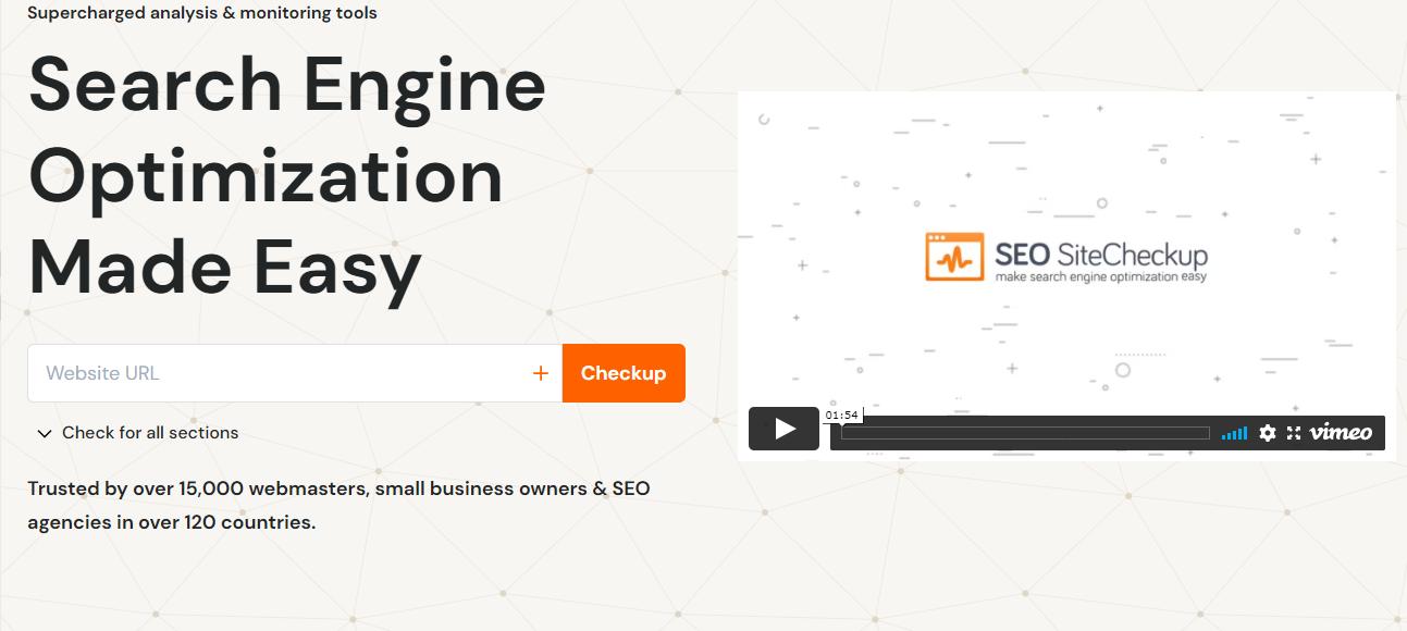 Công cụ kiểm tra tốc độ hosting SEOsitecheckup