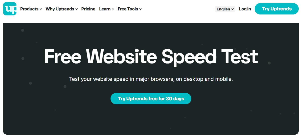 Công cụ kiểm tra tốc độ hosting UpTrends