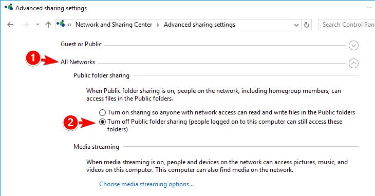tùy chọn advanced sharing settings