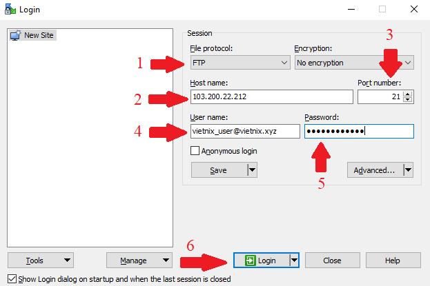 Hướng dẫn upload dữ liệu lên hosting bằng WinSCP