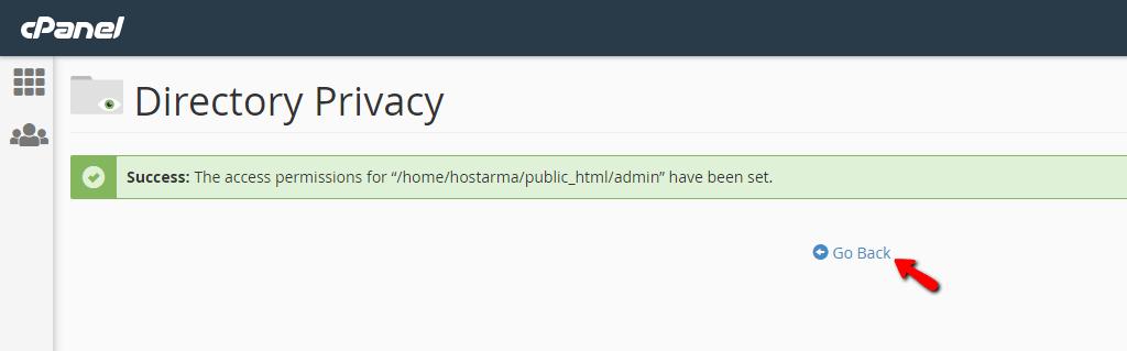 Hướng dẫn sử dụng Directory Privacy trong cPanel